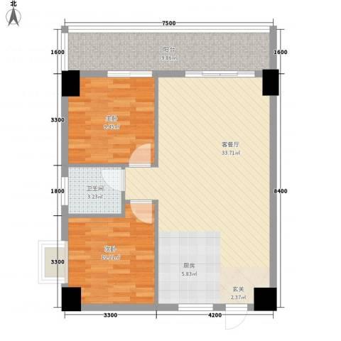 弘林大厦2室1厅1卫0厨87.00㎡户型图