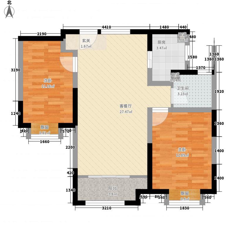 华润中央公园户型2室