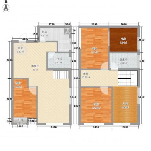 尚层4室1厅2卫1厨143.00㎡户型图