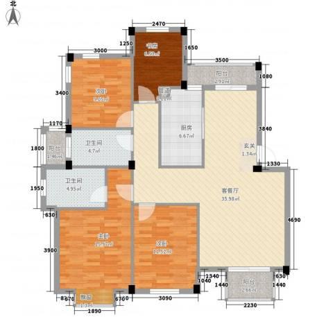 迎春水岸4室1厅2卫1厨144.00㎡户型图