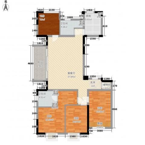 罗蒙环球城4室1厅2卫1厨155.00㎡户型图