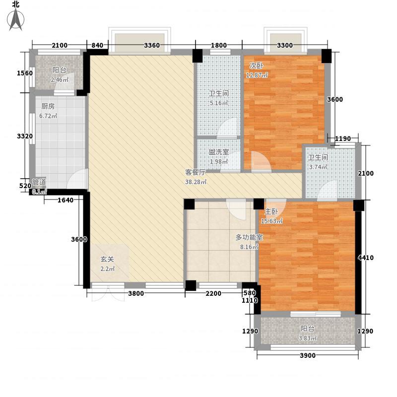 宜昌CBD中心商务区131.84㎡CBD-C户型3室2厅2卫1厨