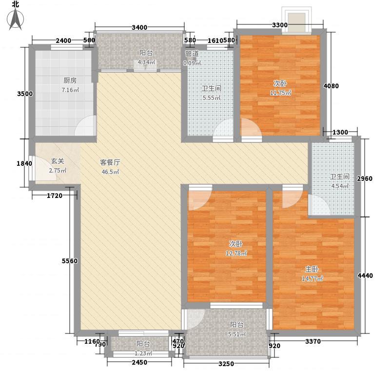 香格丽花园135.00㎡香格丽花园汇景苑A户型3室2厅2卫135.00㎡户型3室2厅2卫