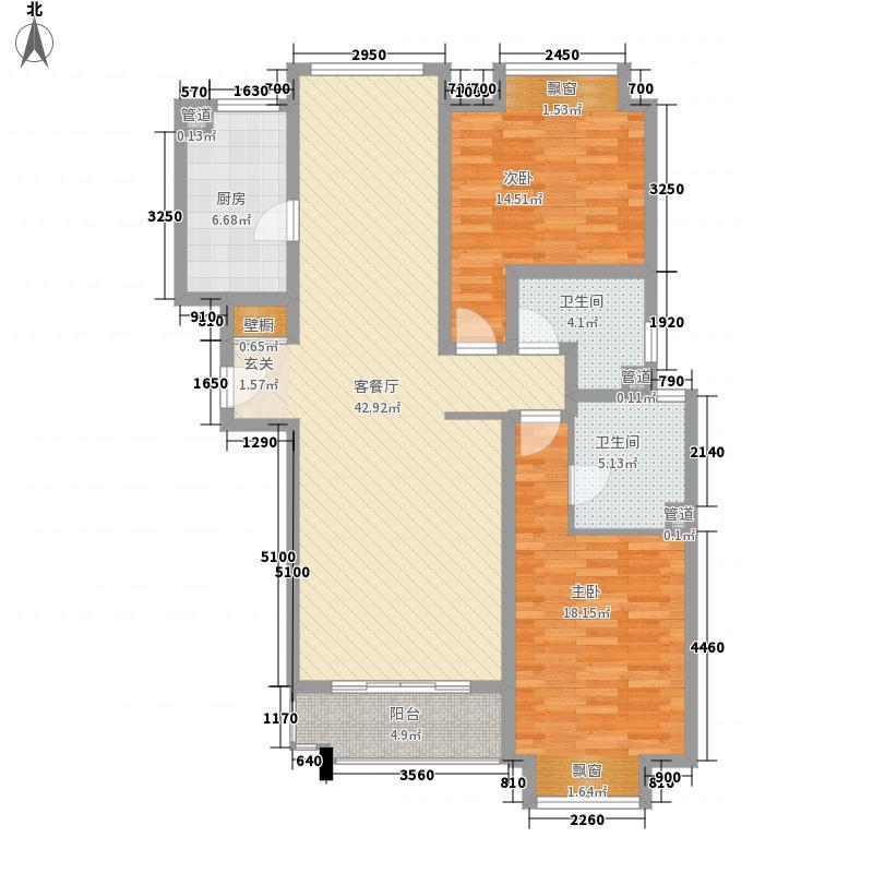 桐安雅居16.00㎡户型2室2厅