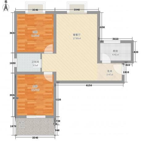 阿房大厦2室1厅1卫1厨84.00㎡户型图