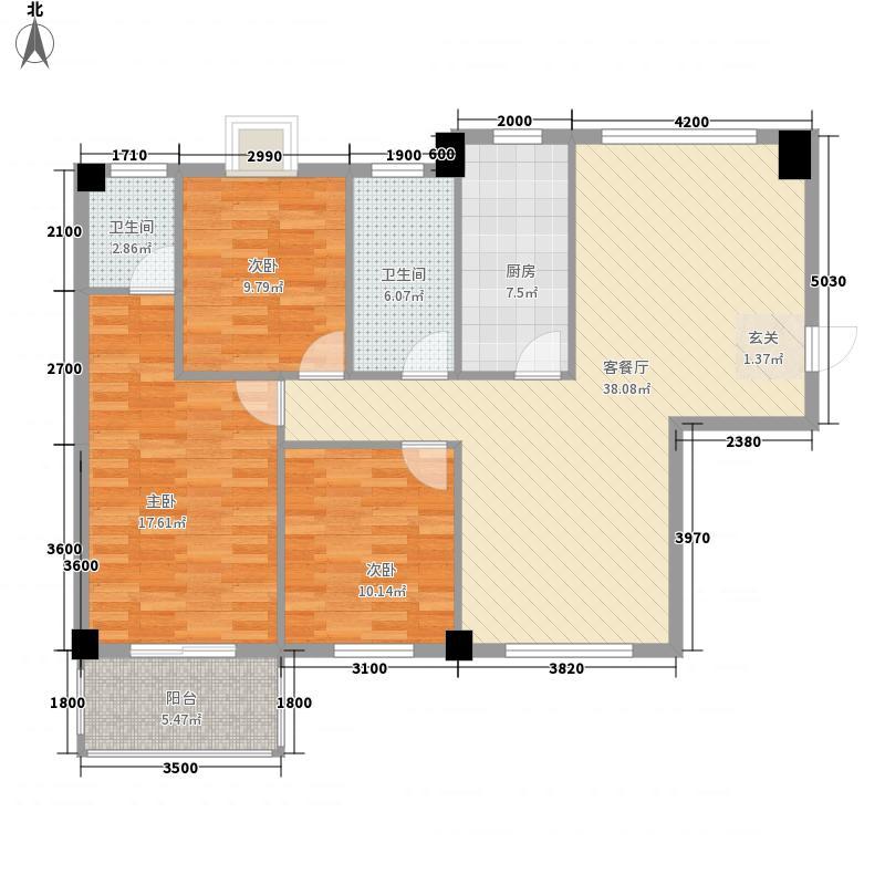 金果・百利山132.84㎡金果・百利山三房两厅两卫3室2厅2卫1厨132.84㎡户型3室2厅2卫1厨