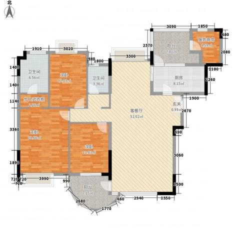 波托菲诺天鹅堡二期3室1厅2卫1厨189.00㎡户型图
