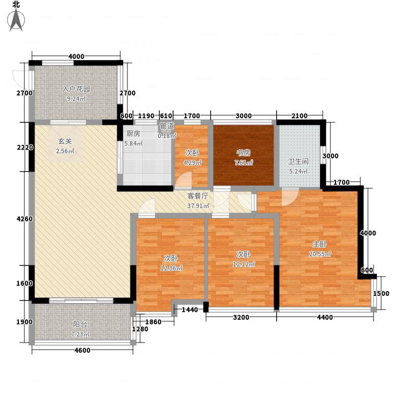 棕榈四季11.00㎡4栋2单元0户型4室2厅2卫1厨