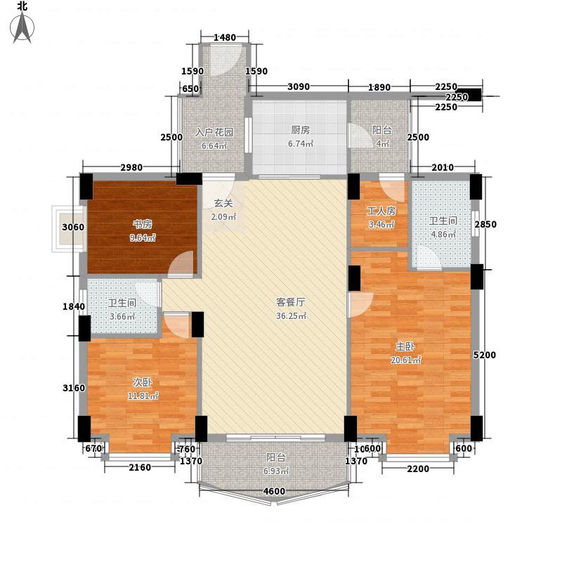 凯龙湾豪园131.43㎡二期9栋01标准层户型