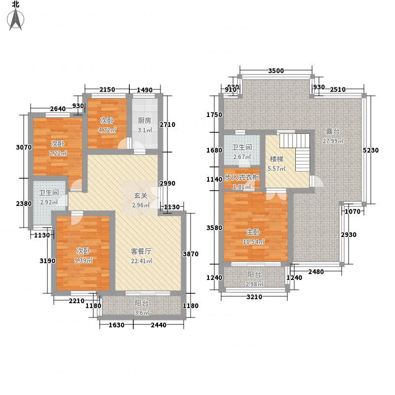 天庆嘉园C区太阳岛155.81㎡B跃型户型4室2厅2卫1厨