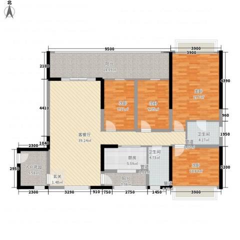 DADA的草地4室1厅2卫1厨130.03㎡户型图