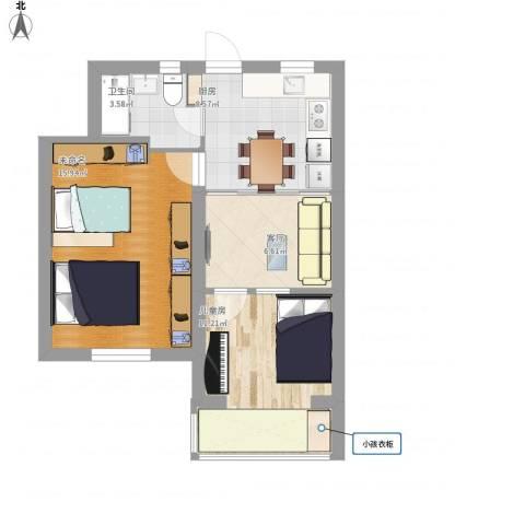 松林小区1室1厅1卫1厨53.23㎡户型图