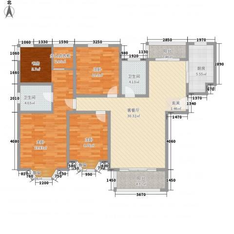 绿地崴廉公寓3室1厅2卫1厨110.40㎡户型图