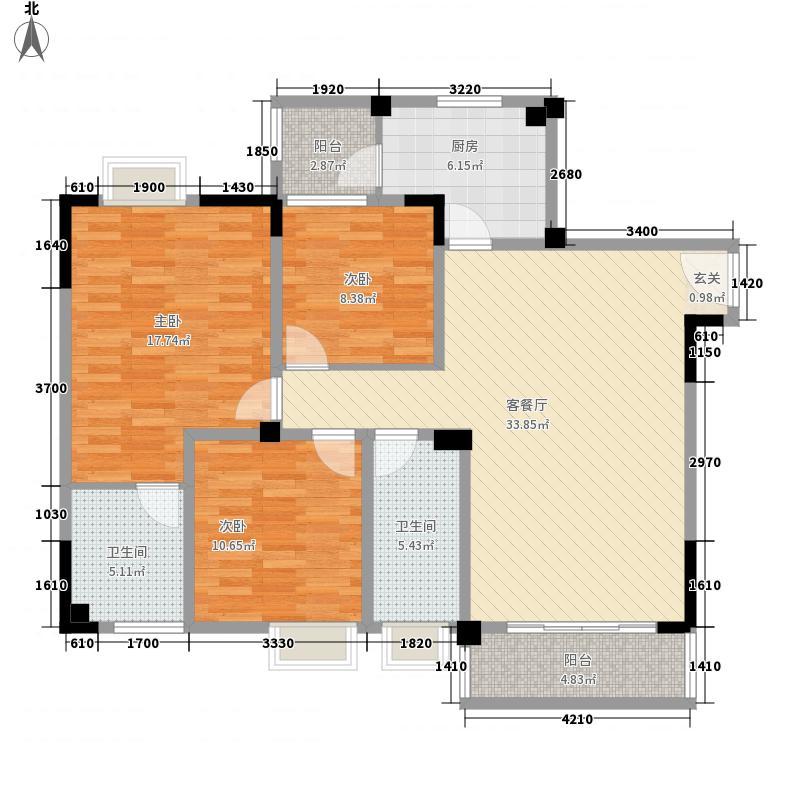 西郡英华涧桥郡组团112.00㎡E3伦敦绅士户型3室2厅2卫