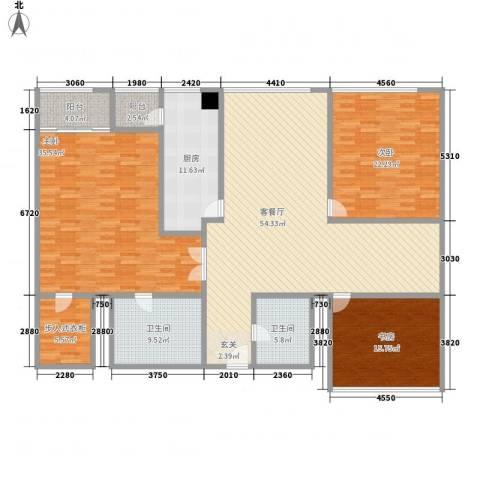 苏州街33号公寓3室1厅2卫1厨230.00㎡户型图