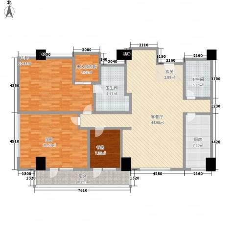 苏州街33号公寓3室1厅2卫1厨203.00㎡户型图