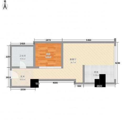 苏州街33号公寓1室1厅1卫0厨61.00㎡户型图