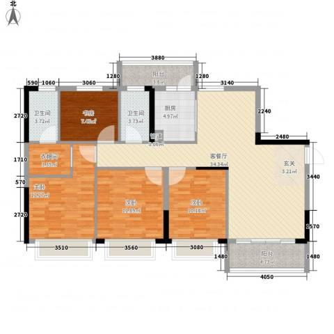 元邦明月金岸4室1厅2卫1厨143.00㎡户型图