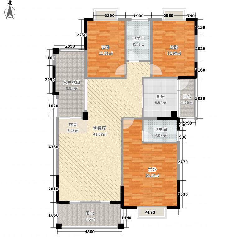 天昌凯悦国际142.61㎡8#12#13#14#24#楼K户型3室2厅2卫1厨