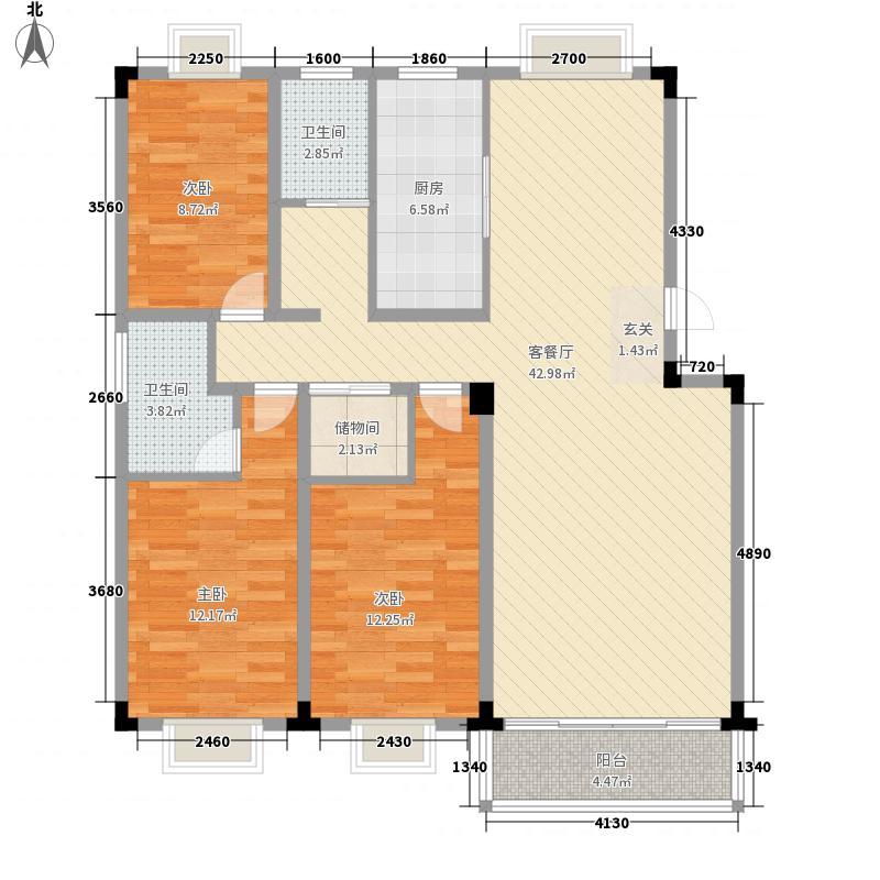 北都花园135.00㎡北都花园3室户型3室