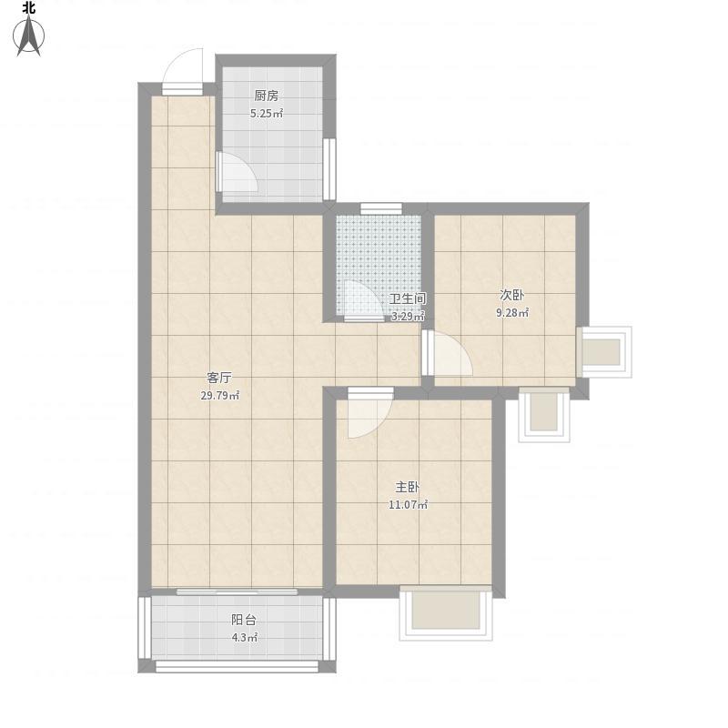 南阳-恒基-和谐家园1-2-1203-设计方案