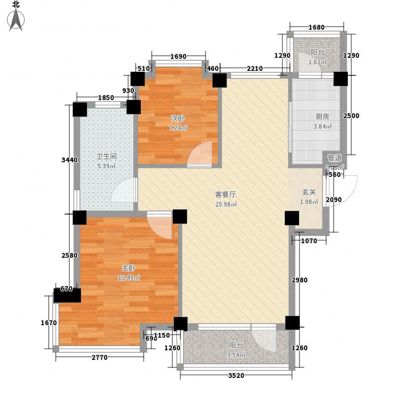 大方麓岛兰湾85.00㎡大方麓岛兰湾户型图户型图2室2厅1卫1厨户型2室2厅1卫1厨