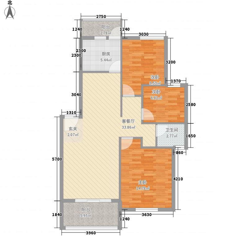 星港湾11.00㎡户型3室