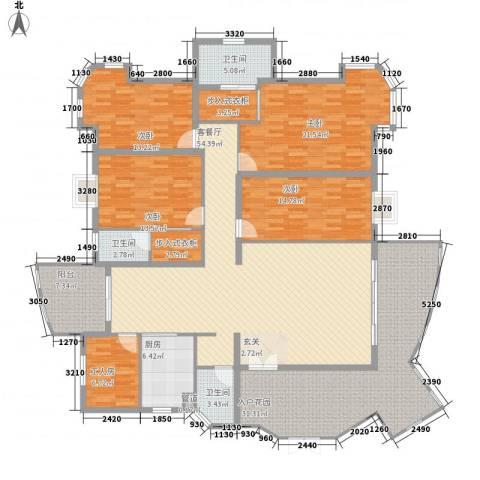 金裕碧水湾4室1厅3卫1厨218.00㎡户型图