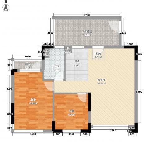 星光城2室1厅1卫0厨109.00㎡户型图
