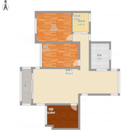 万悦城3室1厅1卫1厨149.00㎡户型图