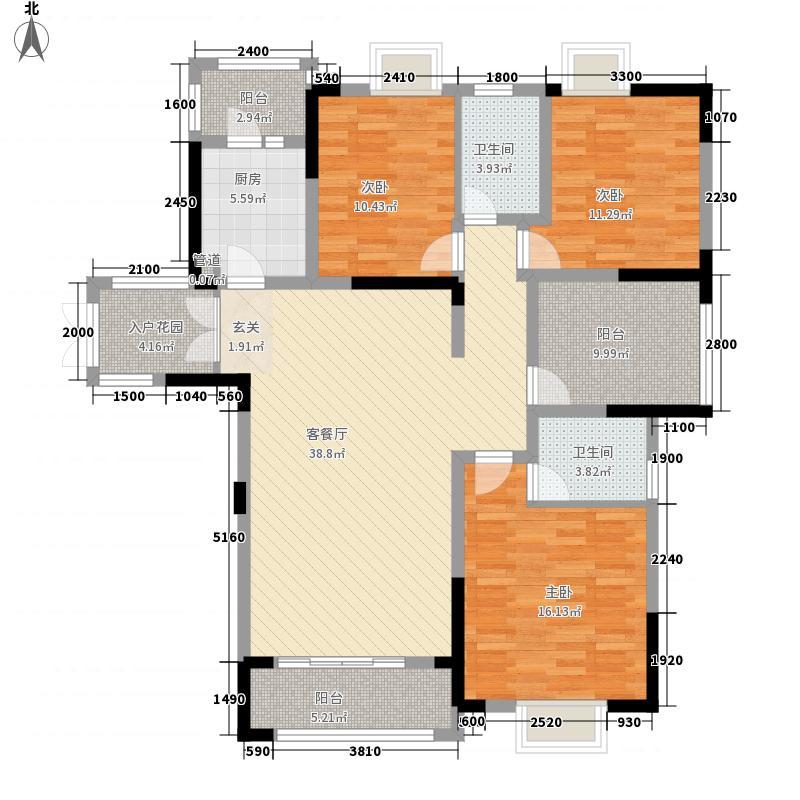 建工依山郡一期1、2、3号楼18层B户型