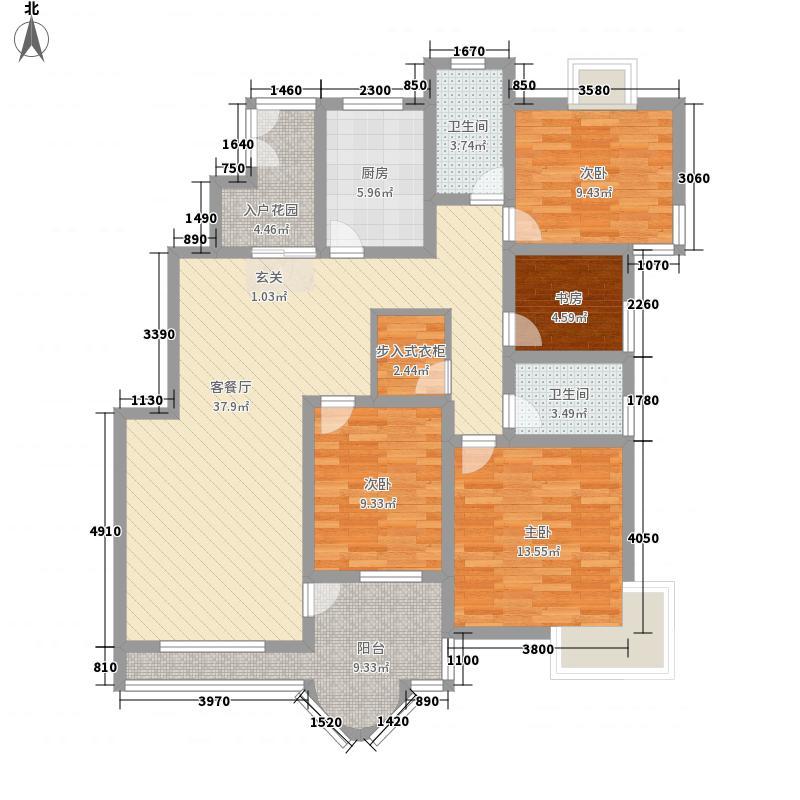 中天名园152.45㎡22#楼奇数层户型4室2厅2卫1厨