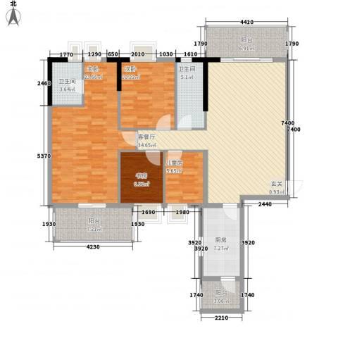惠州蓝湾半岛4室1厅2卫1厨143.00㎡户型图