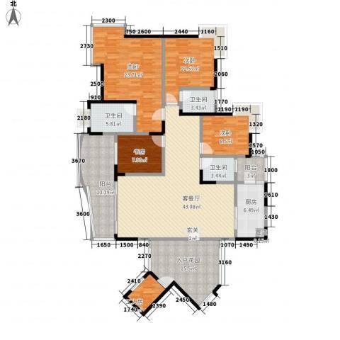 骏逸天下4室1厅3卫1厨211.00㎡户型图