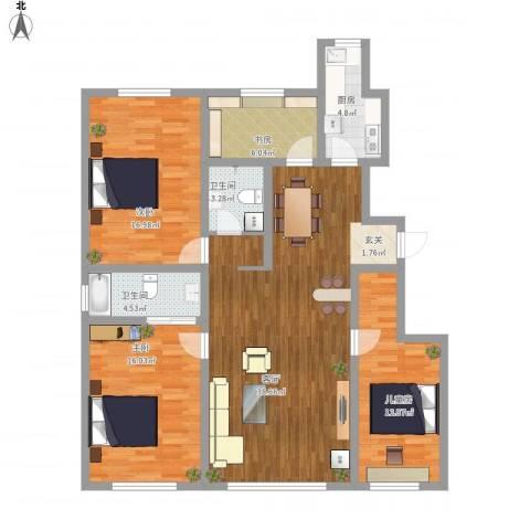 天麓4室1厅2卫1厨147.00㎡户型图