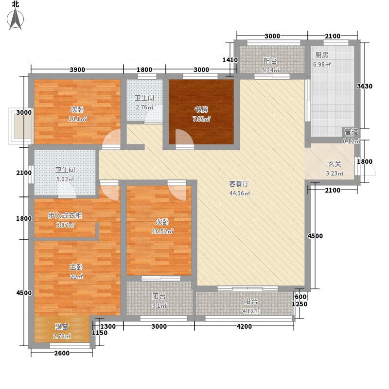 绿都悦府167.84㎡D1户型4室2厅2卫1厨