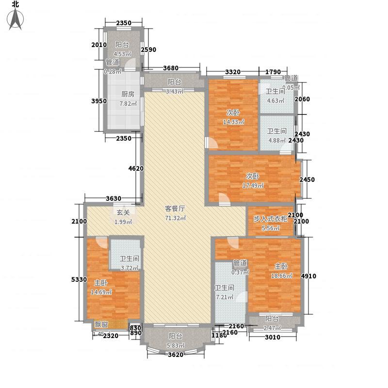 青岛星河湾4室1厅4卫1厨265.00㎡户型图