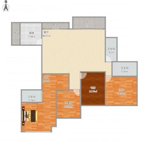 山语清晖花园4室1厅3卫1厨191.00㎡户型图