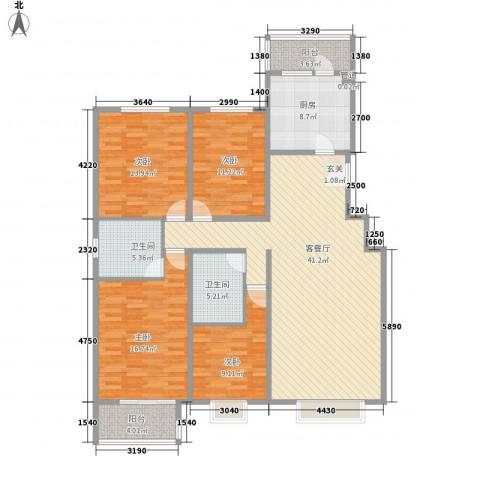 书海文园4室1厅2卫1厨149.00㎡户型图