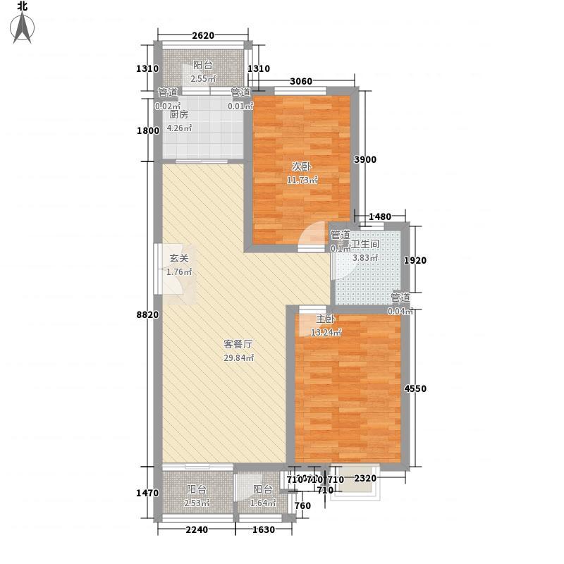 上曲家8.00㎡户型2室