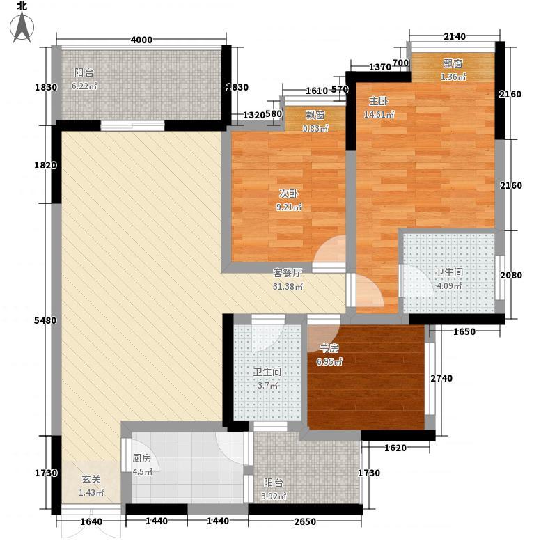 中亿阳明山水89.91㎡二期10号楼标准层3户型