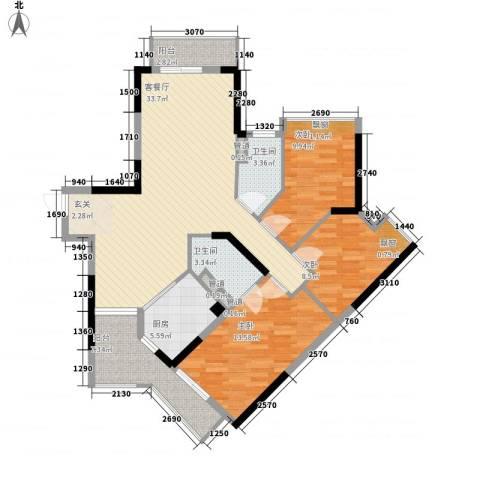 友谊尚居3室1厅2卫1厨125.00㎡户型图