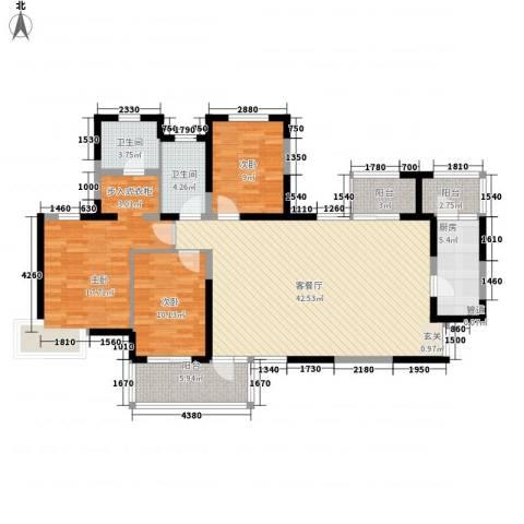 名门华都3室1厅2卫1厨149.00㎡户型图