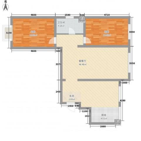 亚信小区2室1厅1卫0厨108.00㎡户型图
