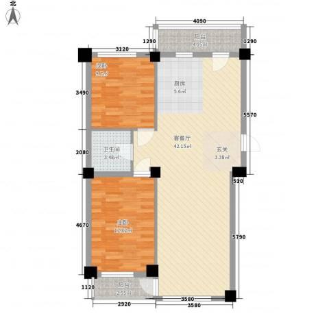 澜・语2室1厅1卫0厨107.00㎡户型图