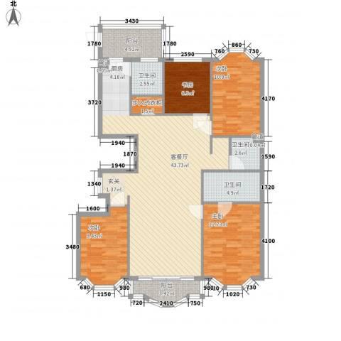 荣耀上城4室1厅3卫0厨146.00㎡户型图