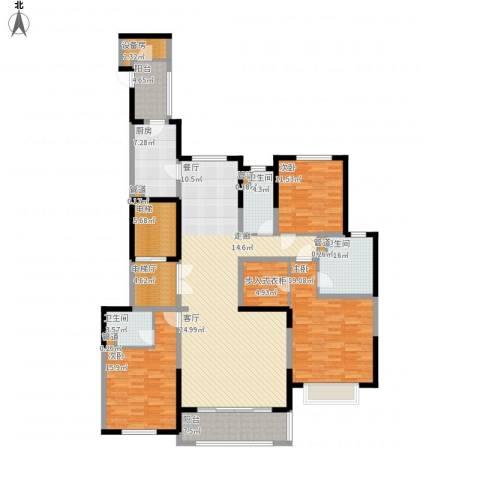 西派国际3室1厅3卫1厨215.00㎡户型图
