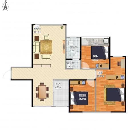 正和城3室1厅1卫1厨115.00㎡户型图