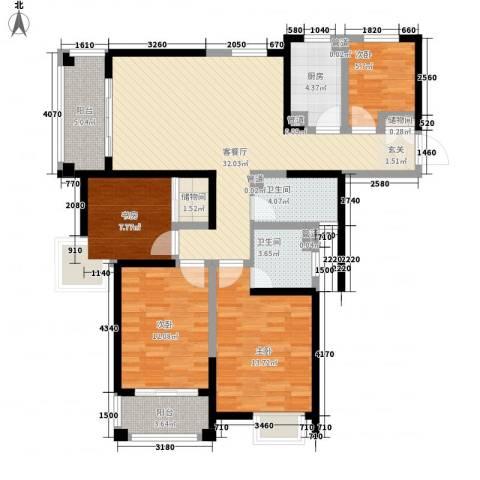 平岗星苑4室1厅2卫1厨140.00㎡户型图