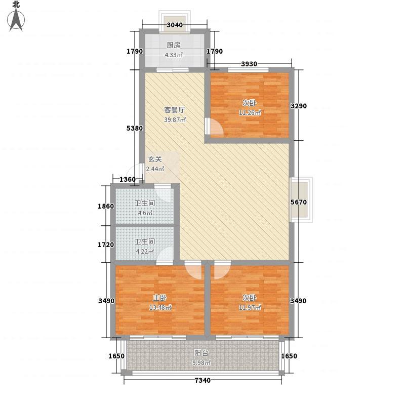 河畔景苑142.28㎡mum・河畔景苑户型图户型A3室户型3室